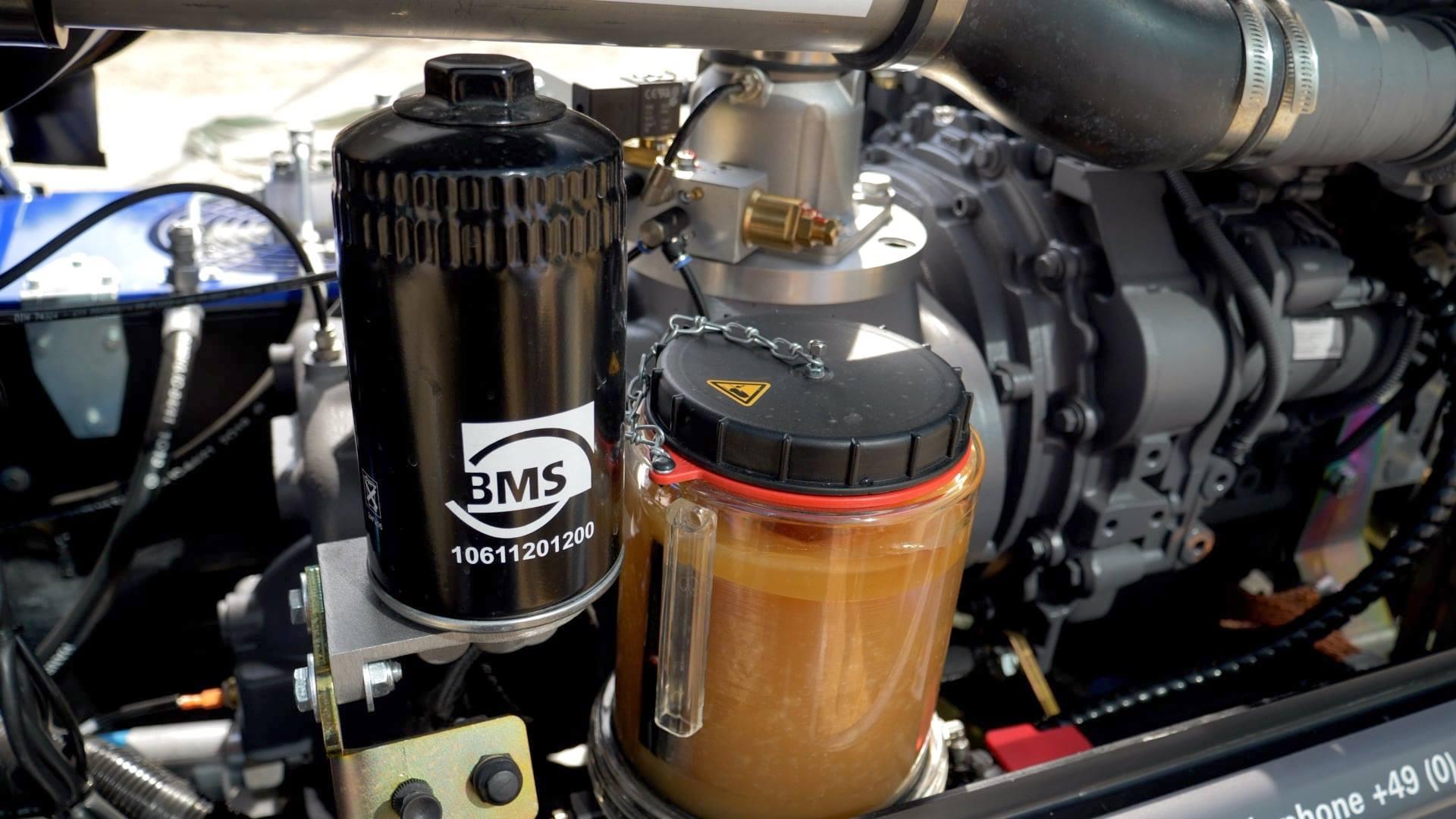Kompressorölfilter und Schmieranlage