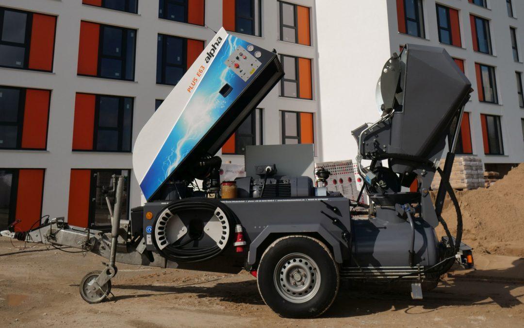 alpha E63 PLUS! Volle Elektropower, stark auf großen Baustellen