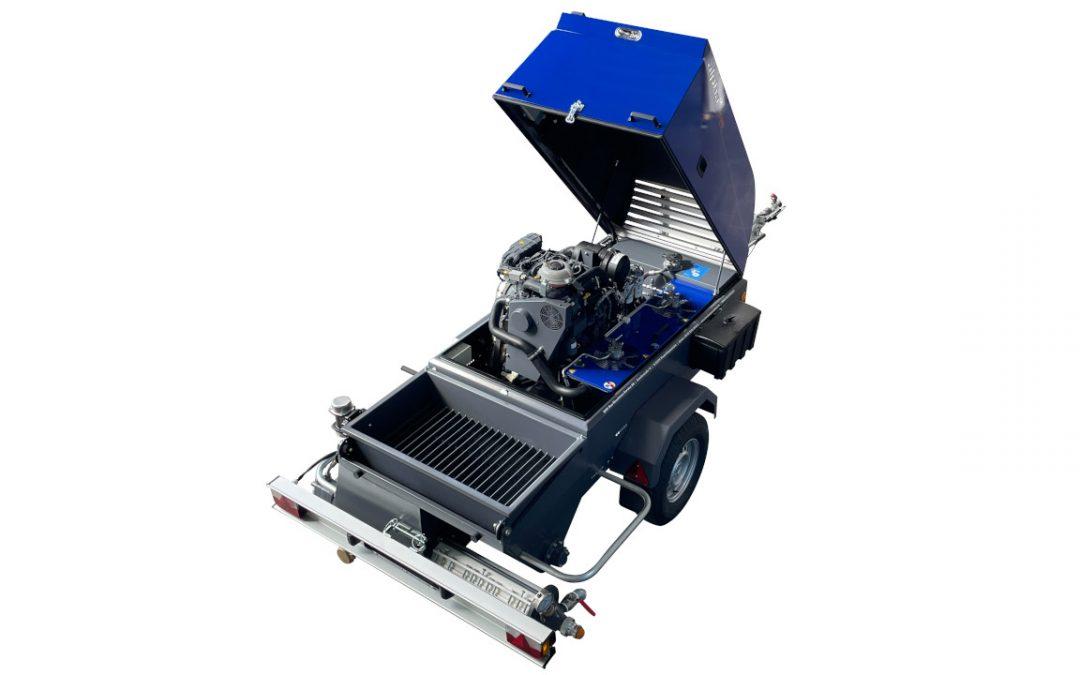 Fließestrichmaschine alpha CR FLUID jetzt auch in XL Ausführung